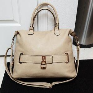 Handbags - Large Cream Satchel Hand Bag Shoulder Purse
